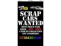 Cars wanted best prices paid