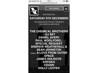 2x tickets Chemical Brothers Warehouse Project 09/12/17