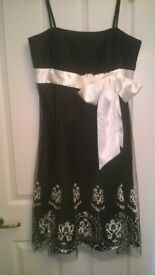 black and white prom dress size 14