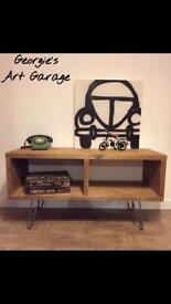 Lovely hand made industrial style tv cabinet/media unit- different sizes upon request