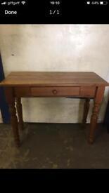 Pine hallway table