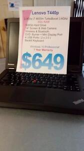 Lenovo Thinkpad T440p - i7 Intel - 8Gb RAM - 500Gb HDD - 1 Year Warranty - Windows 7 Pro - Like New!