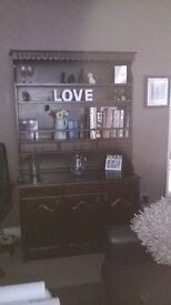 Jacobean style mahogany reproduction dresser
