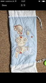 Baby boy cot quilt and bumper