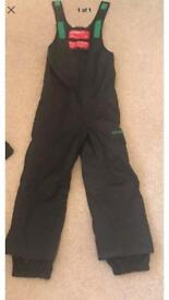 Black O'Neil Sallopettes All in One Ski Suit 7-8 years
