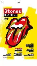 Rolling Stones Tickets x2 - Tuesday 22nd May 2018 - London Stadium
