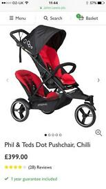 Phil and teds dot v3 double buggy 2017 model. Brand new
