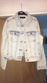 Acid washed denim jacket