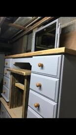Pine rustic dressing table