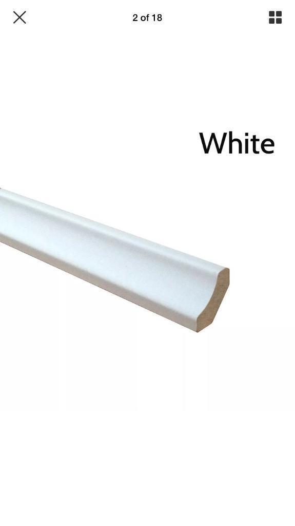 White scotia/ floor beading