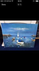 Sailing boat CANVAS