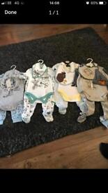 Baby grows and bibs, brand new (Disney)