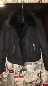 Newlook petite size 12 sheepskin coat