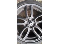 set of 19 inch alloys they came off a mini countryman john cooper works