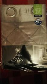REDUCED!! 'Rio' fully lined eyelet curtains