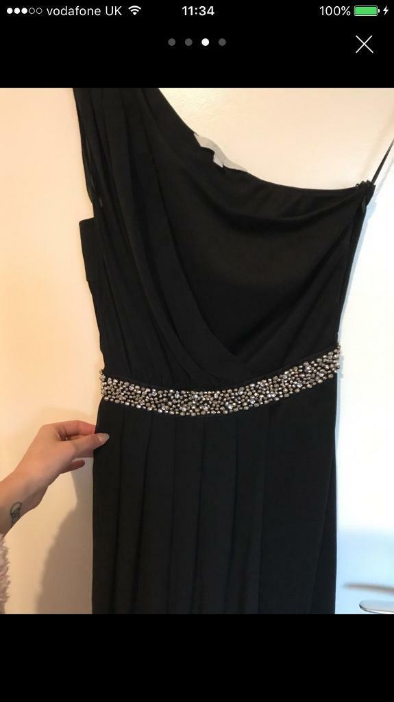 Designer one shoulder dress