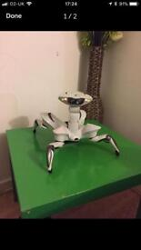 White Quad Robot With Manual and Remite