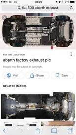 Genuine abarth exhaust