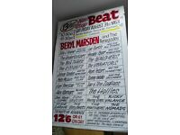 2 X Full Sized Genuine Signed Tony Booth Hand Painted Cavern And Big Beat Poster Beryl Marsden