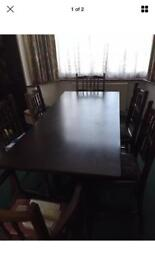 Dining table&6 chairs