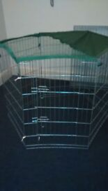 Two inside / outside pet pens - 2 on offer