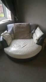 dfs corner and swivel leather sofa