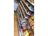 Shop shelves