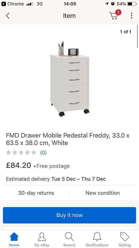 524577e1049edc   BRAND NEW   FMD Model Freddy Small 5 Drawer Cabinet