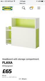 IKEA headboard and storage compartment