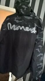 mens money camo black jacket brand new medium