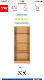 Argos Maine Tall Extra Wide Deep Bookcase