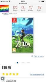 Zelda Nintendo Switch game