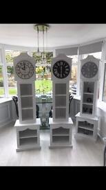 Grandfather style clock display unit