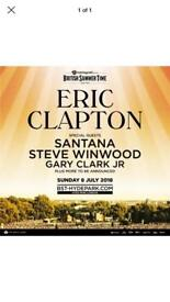 1x standing ticket for Eric Clapton Hyde Park