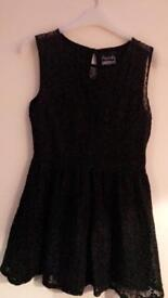 Black lace superdry dress small