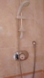 Complete shower cube plus all accessorise of the mixer tap, screen and the tray