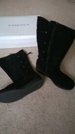 Ladies suede effect boots, size 10