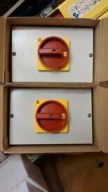 3 x 63amp isolators,brand new still boxed.