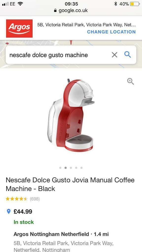 Nescafé Dolce Gusto Coffee Machine In Carlton Nottinghamshire Gumtree
