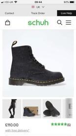 Black glitter dr marten boots