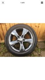 Vauxhall Astra 17 inch alloys with tyres 225/50/17 fully refurbished in gun metal grey