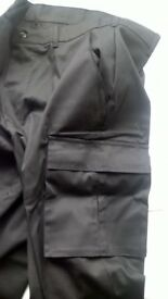 Black Combat Cargo Work Pants 32ins Waist 31ins Inside Leg, Brand New in bag with Tags