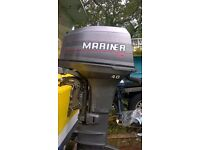 Outboard Motor Mariner 40 hp 2 stroke long shaft