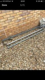 Roof bars ford transit with roller