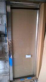Roman Collage shower door