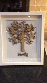 Handmade Family Tree Photoframe