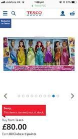 Disney princess sparkle dolls