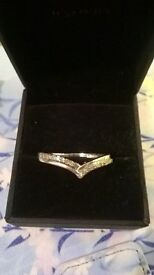 White gold wishbone Ring. Unwanted Present.