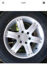 "Set of 4 shogun sport 18 "" alloys tyres"