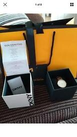 Genuine DKNY rose gold ladies watch with box & receipt